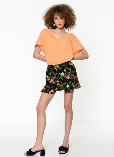 Fashion Friends Kısa Kollu Bluz Oranj